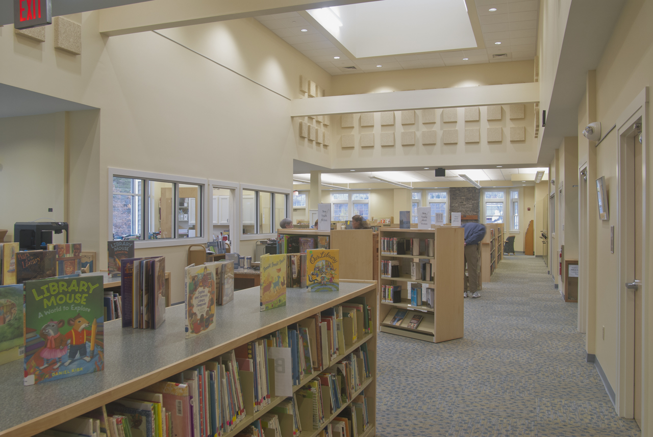 Interior of New Library