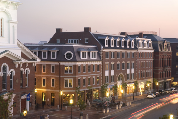 historic district, downtown living, roof deck, mixed-use, urban infill, award