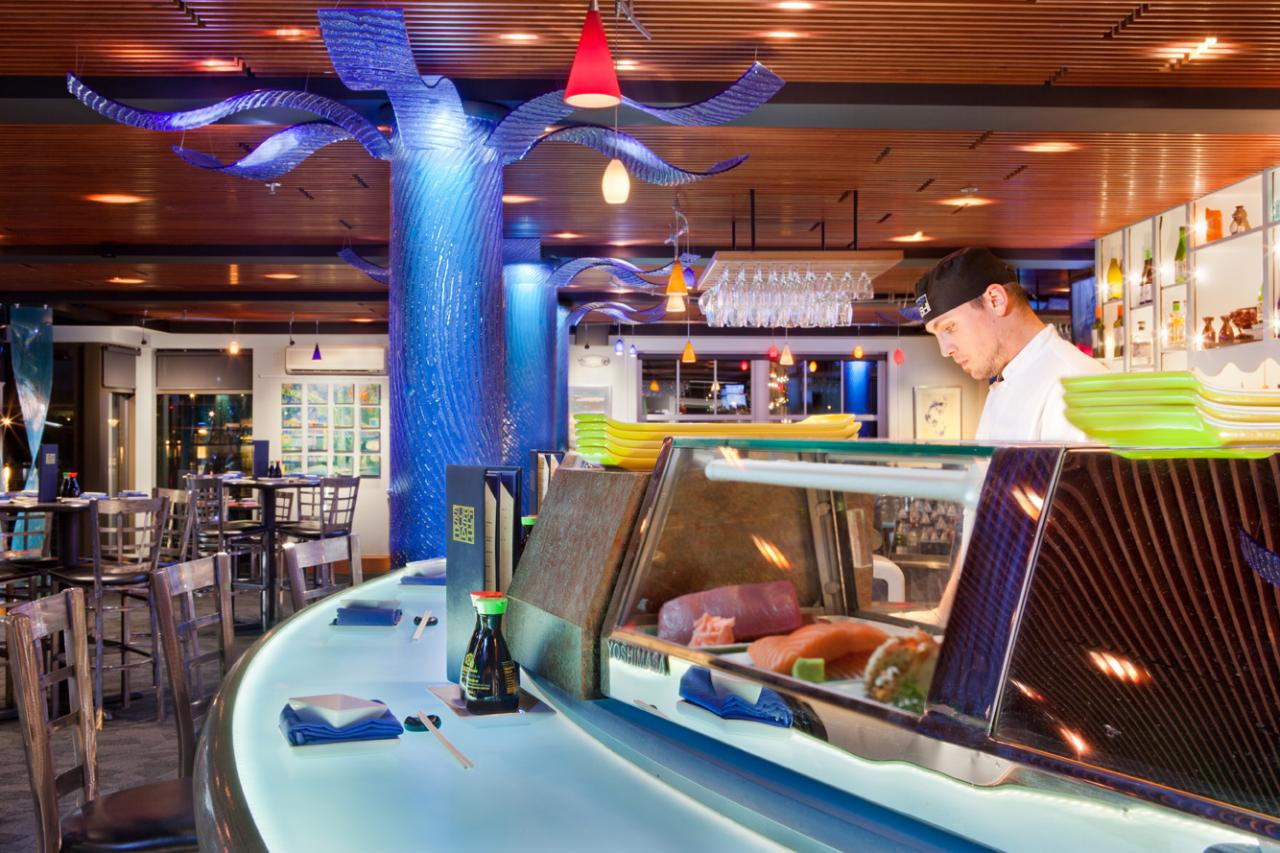 restaurant, waterfront, interior design, Portsmouth, sushi, seafood