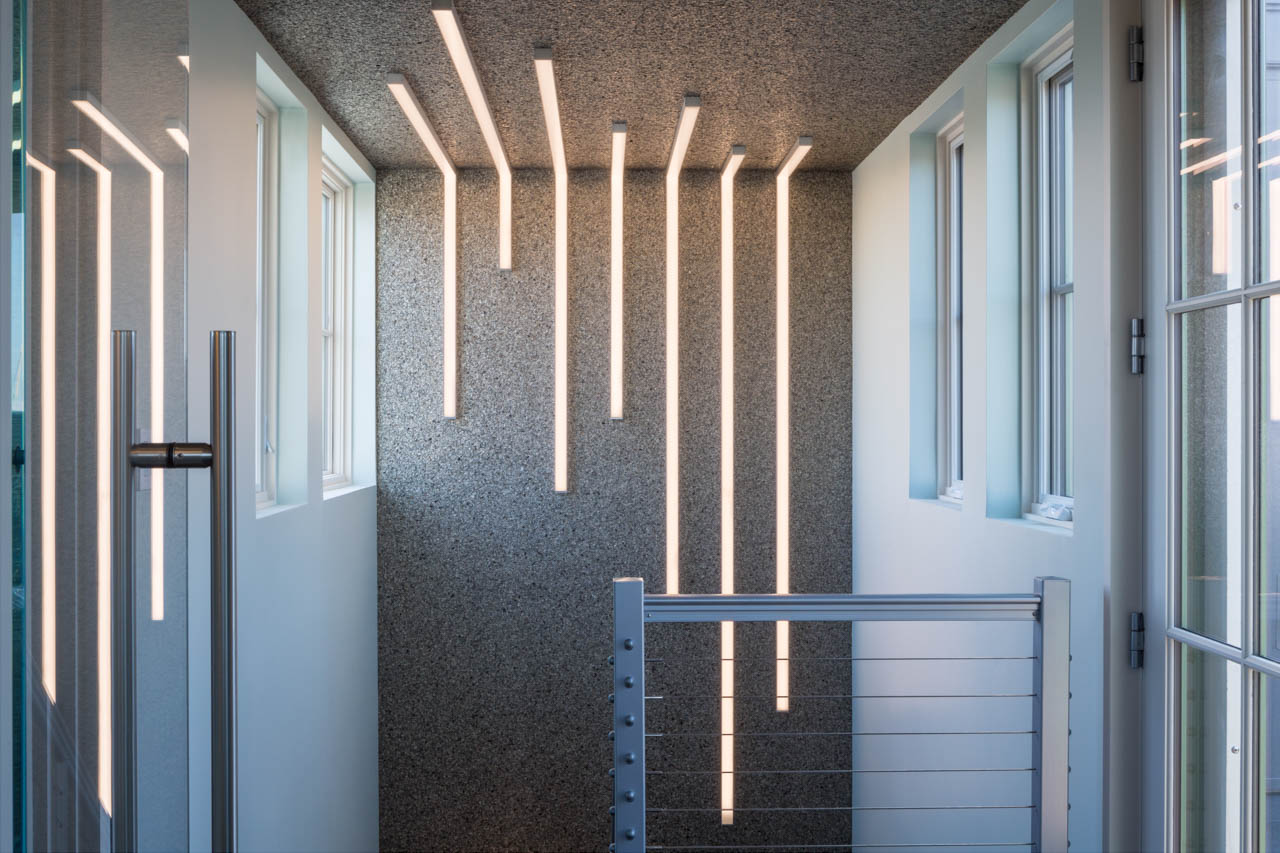 Stairwell Lighting, Portsmouth, NH | Client: Frances G Hodges Interiors