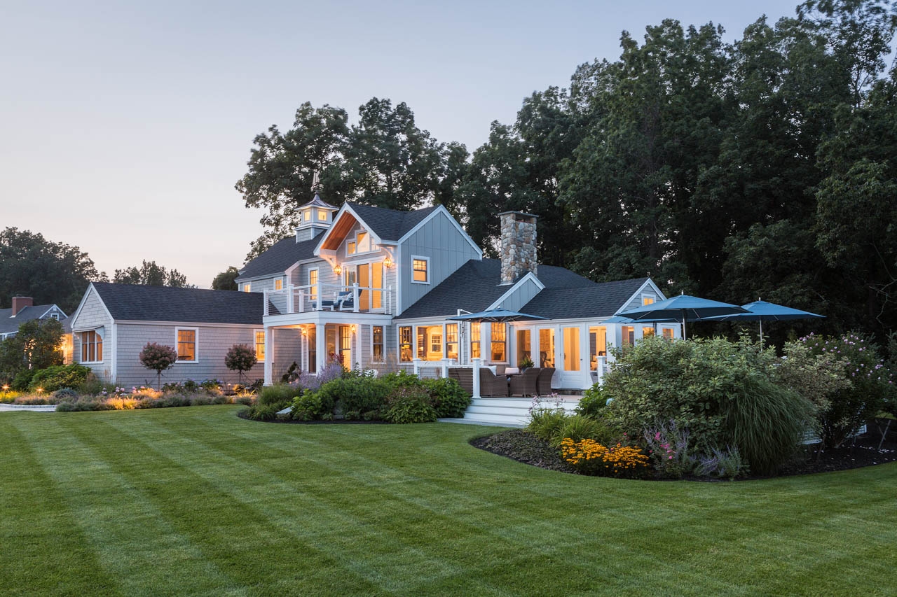 Residential Exterior at Dusk, York, ME | Client: Amy Dutton Home
