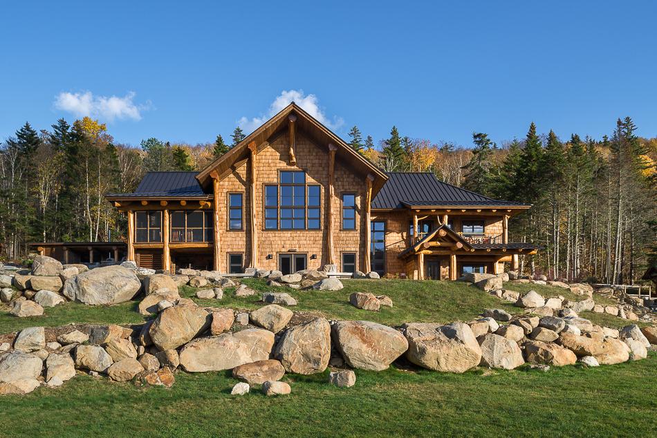 New Hampshire Architecture Photography of Mooslauke Lodge