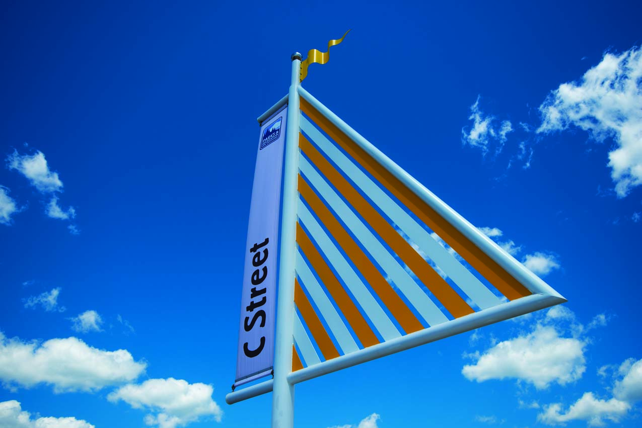 """Sunfish"" Crosswalk Marker for Hampton Beach State Park"