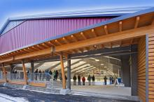 Holderness School Outdoor Ice Rink: Photo by John Gauvin, Studio One