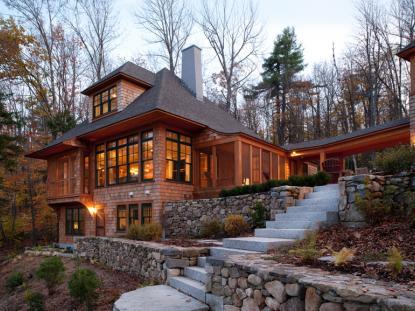 2012 AIANH Merit Award: Nubanusit Lake House, Sheldon Pennoyer Architects. Photo: Joseph St. Pierre