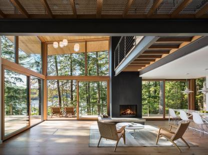 Lakeside Cabin, Murdough Design Architects, photo: Chuck Choi Architectural Photography