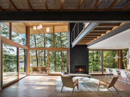 Lakeside Cabin, Murdough Design Architects, photo: Chuck Choi Architectural Photography