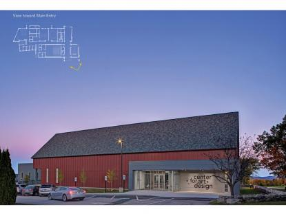 Colby-Sawyer College, Center for Art + Design, The S/L/A/M Collaborative, photo:  Alain Jaramillo